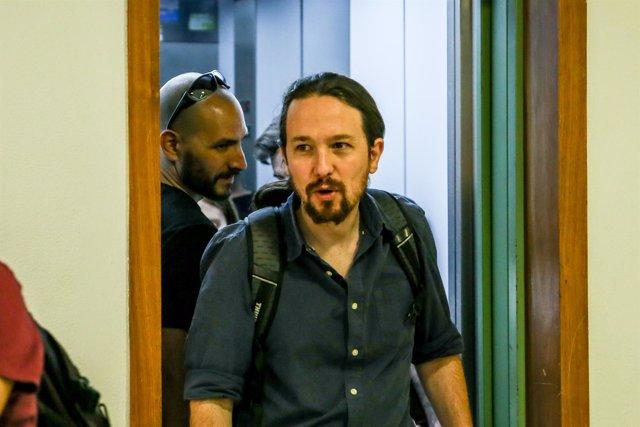 Pablo Iglesias en el Consejo Ciudadano Estatal de Podemos