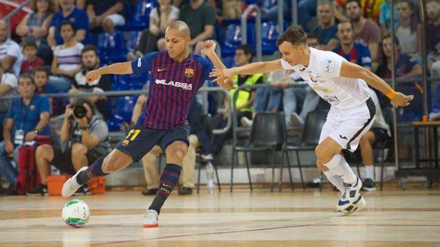 Ferrao en un partido del Barça Lassa