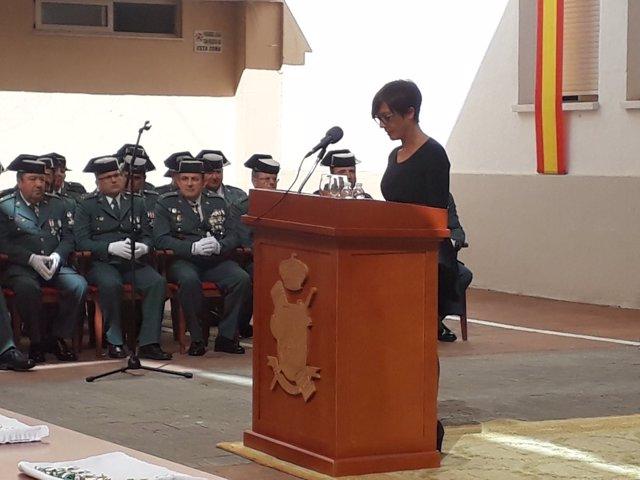 La subdelegada del Gobierno en Málaga en actos de la Guardia Civil