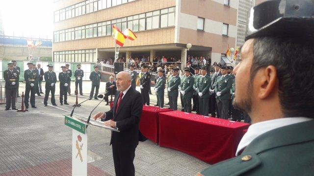 El delegado del Gobierno, Javier Losada, en los actos del Día del Pilar