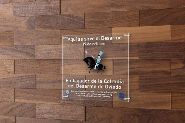 Placa Embajador Cofrade.