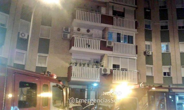 Incendio en una vivienda de Sevilla