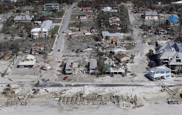 Destrucción causada por el paso de 'Michael' por Florida (EEUU)