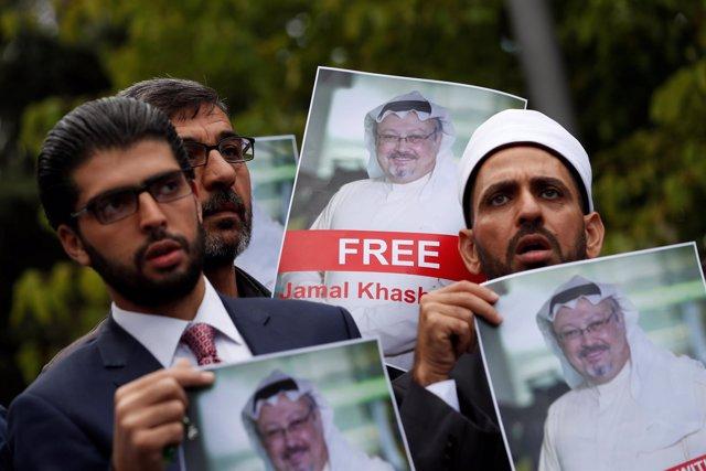 Protestas por la desaparición de Yamal Khashoggi