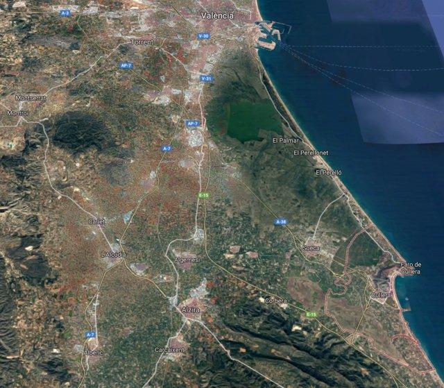 Localización de Cullera (Valencia)