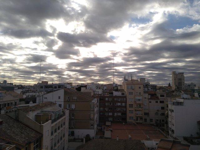 Nubes, cielo cubierto, nublado