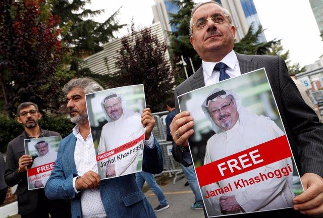 Manifestación en homenaje a Yamal Jashogi