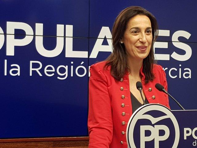 La portavoz del Partido Popular de Murcia, Nuria Fuentes