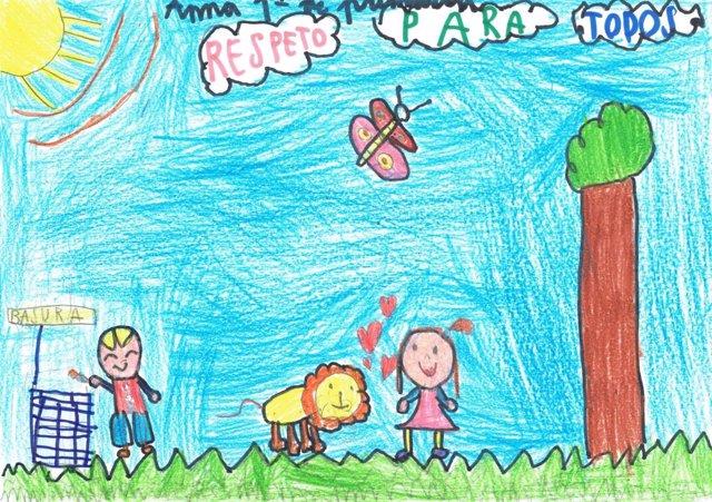 Valladolid.- Dibujo de una niña realizado en el taller de  Educación en empatía