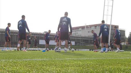 Nuevo entrenamiento de la Selección Española de Fútbol