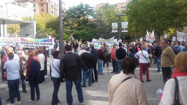 Protesta contra las macrogranjas