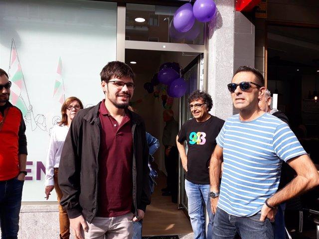 Lander Martínez y Andeka Larrea (Podemos Euskadi)