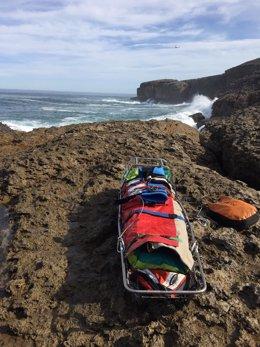Rescate pescador en Isla