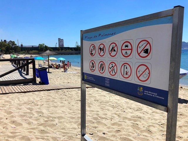 La playa de Palmones logra la bandera Q de Calidad Turística