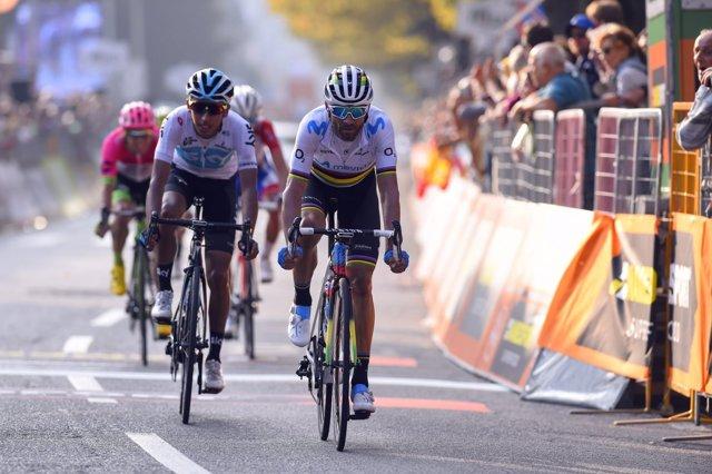 Alejandro Valverde (Movistar Team), en el Giro de Lombardía