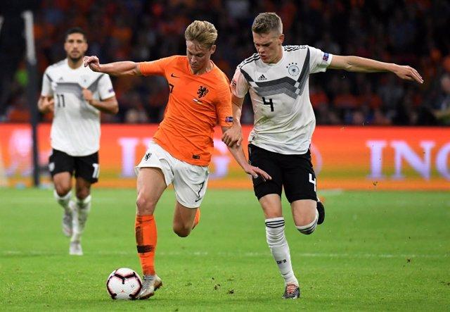 Holanda y Alemania en la Liga de Naciones