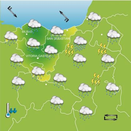 Previsiones meteorológicas del País Vasco para hoy, día 14