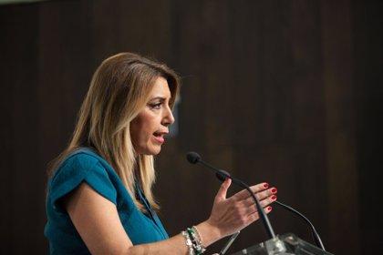 """Susana Díaz acusa a Rivera de """"utilizar Andalucía como campo de batalla"""" frente a Casado"""