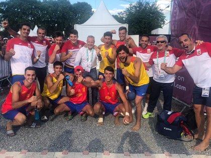 Los 'Hispanos Juveniles' se cuelgan el oro en balonmano playa en los Juegos Olímpicos de la Juventud
