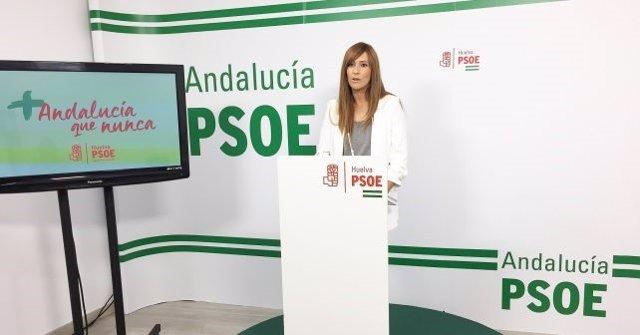 La secretaria de Medioambiente del PSOE de Huelva, Rocío Jiménez