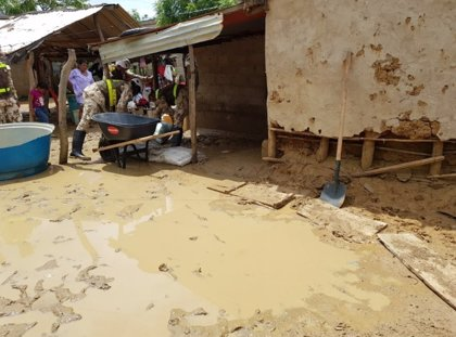 Colombia registra más de 64.000 damnificados por las intensas lluvias en el departamento de La Guajira