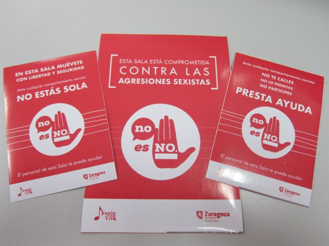 """Cartelería de la campaña """"No es no"""" contra las agresiones sexistas"""