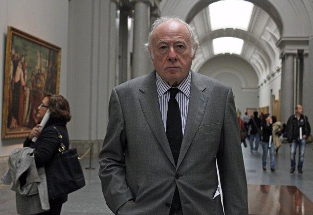 Eduardo Arroyo en el Museo del Prado (Madrid)