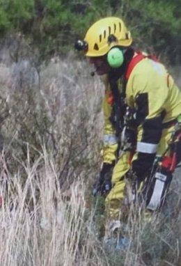 Rescate de un parapentista en Alicante