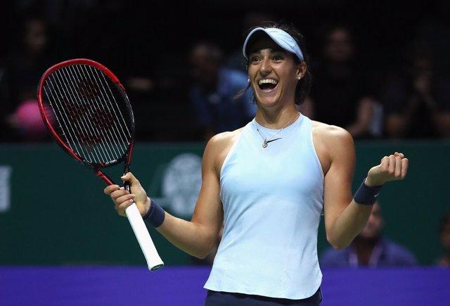 Caroline Garcia celebra su victoria