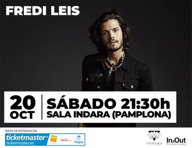 Cartel del concierto de Fredi Leis