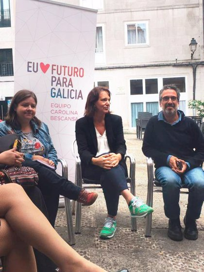 """Carolina Bescansa propone una """"estrategia global"""" contra la corrupción, que """"impide el desarrollo económico"""" de Galicia"""