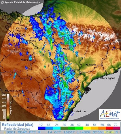 El paso de los restos del huracán Leslie no produce incidencias significativas en Navarra