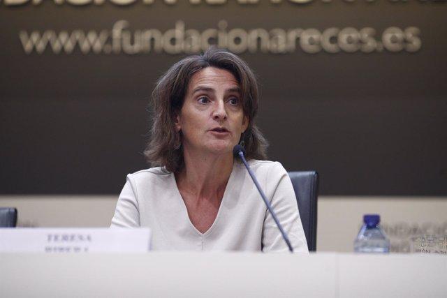 La ministra de Transición Ecológica, Teresa Ribera, interviene en la clausura de