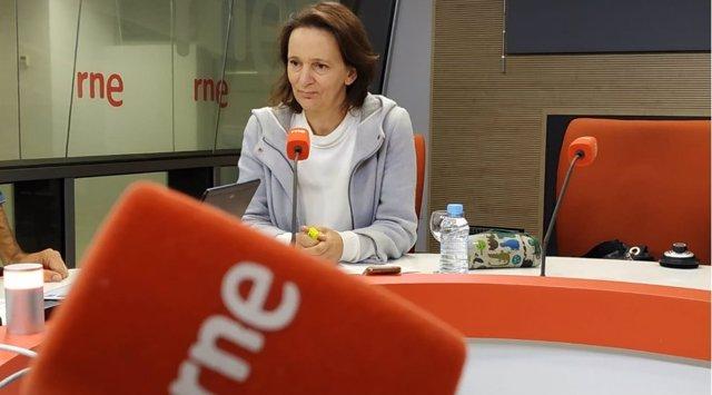 Carolina Bescansa, diputada de Podemos entrevista en RNE