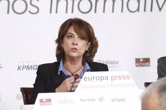 La ministra de Justicia, Dolores Delgado, protagoniza el Desayuno Informativo de