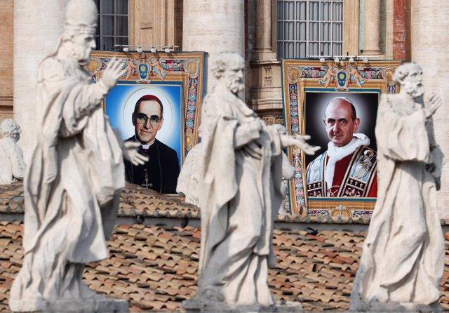 Canonización del Arzobispo Óscar Romero y el papa Pablo VI.