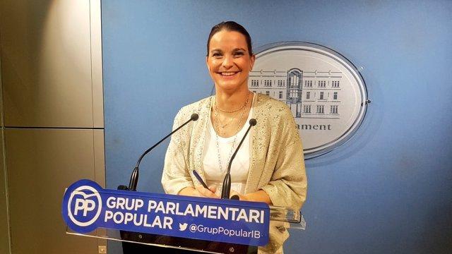 La portavoz del PP, Margalida Prohens, en rueda de prensa