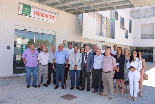 Entrada de Urgencias del centro La Milagrosa en Jerez el día de su inauguración