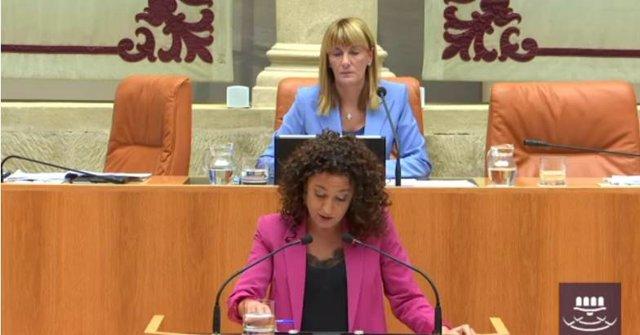 La diputada de Podemos Ana Carmen Sáinz