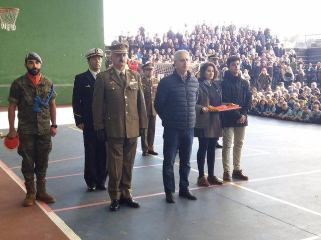 Acto izado de bandera en Colegio San Ignacio de Oviedo