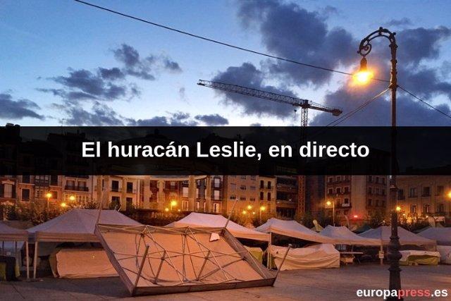El huracán Leslie, en directo