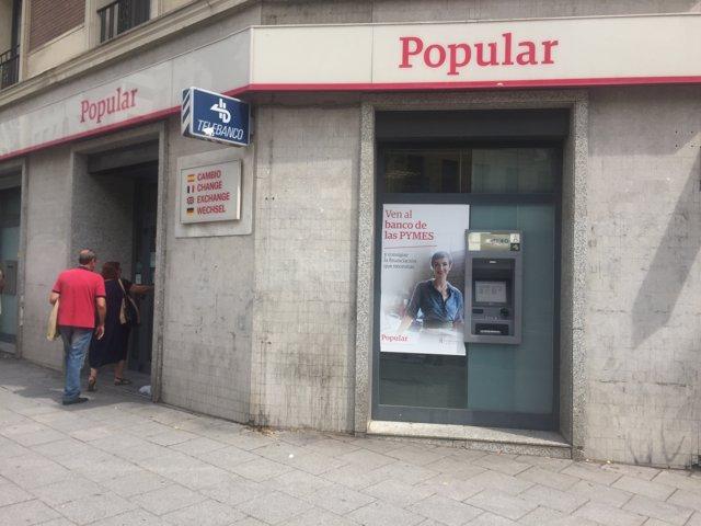 Banco Popular, sucursal bancaria, cajero