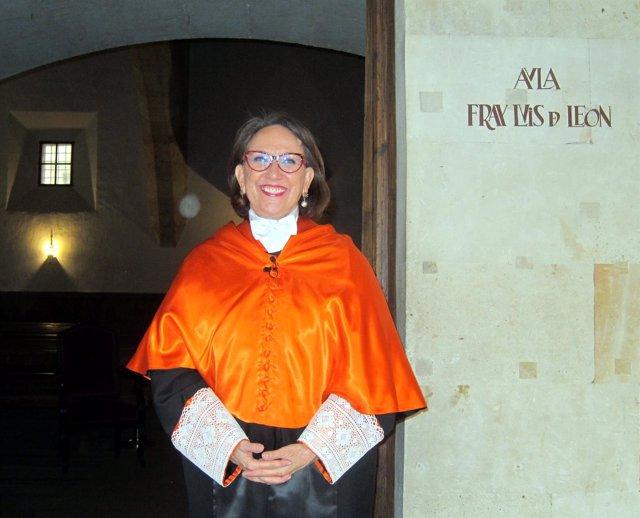 Rebeca Grynspan en el Edificio Histórico de la USAL, 15-10-18