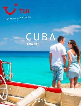 Avance del catálogo de TUI sobre Cuba