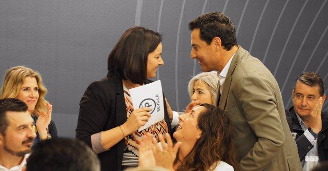 Virginia Pérez y Juanma Moreno, hoy ante los medios