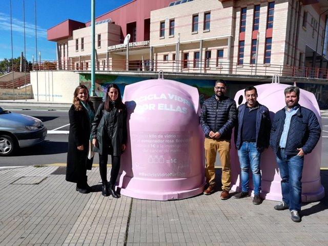 Contenedor rosa en Soria 15-10-2018