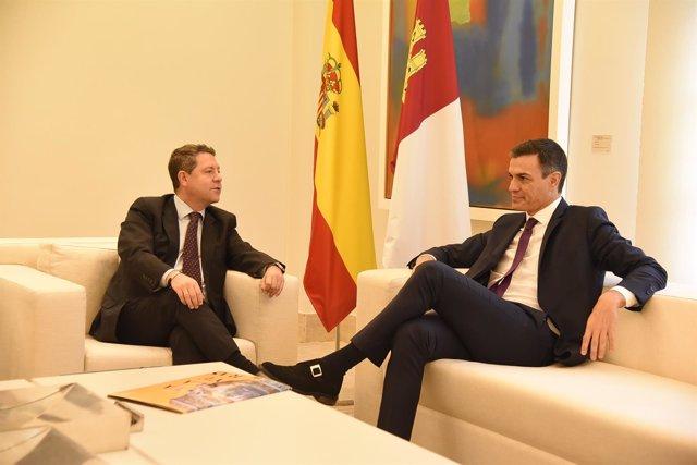 Pedro Sánchez y Emiliano García-Page, reunión en Moncloa