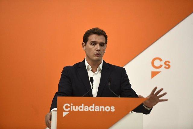 Rueda de prensa del presidente de Ciudadanos, Albert Rivera