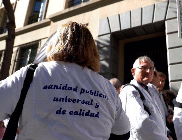 Concentración en Málaga de médicos de atención primaria