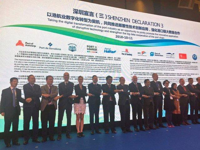 El Puerto de Barcelona firma la Declaración de Shenzhen
